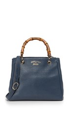 Wgaca Gucci Bamboo Satchel Previously Owned Navy