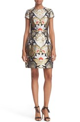 Ted Baker Women's London Imoen Opulent Orient Jacquard Fit And Flare Dress