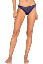 Else Signature Silk And Lace Thong Blue