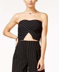 In Awe Of You By Awesomenesstv Awesomeness Tv Juniors' Pinstriped Strapless Crop Top Multi