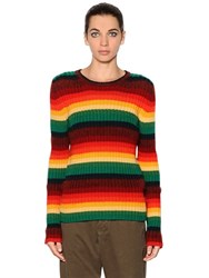 N 21 Ribbed Wool And Mohair Knit Sweater
