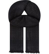 Mulberry Shimmer Wool Scarf Black