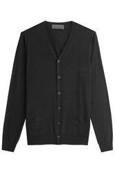 Iris Von Arnim Virgin Wool Cardigan Black