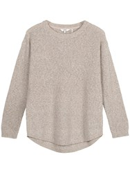 Fat Face Harpenden Textured Jumper Misty Surf