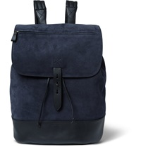 Tomas Maier Suede Backpack Blue