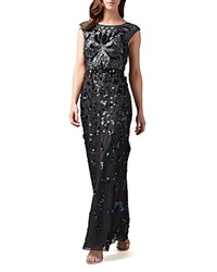 Phase Eight Betsy Sequin Gown Petrol Blue