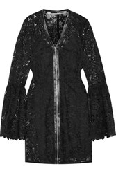 Mcq By Alexander Mcqueen Guipure Lace Mini Dress Black