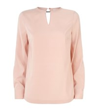 Brunello Cucinelli Keyhole Chain Tie Back Blouse Female Pink