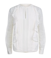 See By Chloe Frilly Pintuck Blouse Female White