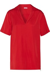Tomas Maier Satin Top Red