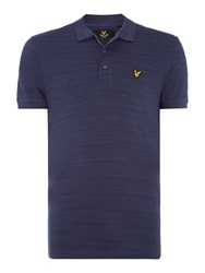 Lyle And Scott Short Sleeve Space Dye Jersey Polo Shirt Navy