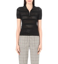 Sandro Cole Knitted Top Noir