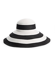 Gottex Breton Striped Hat Black White