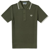 Fred Perry Reissues Textured Knitted Polo Neutrals