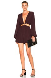 Zimmermann Chroma Cut Out Romper In Brown