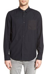 Men's Tavik 'Balance' Trim Fit Oxford Woven Shirt Jet Black