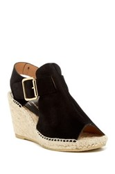 Bettye Muller Dawn Suede Woven Wedge Black