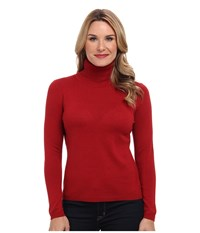 Pendleton Classic Turtleneck Sweater Red Rock Heather Women's Long Sleeve Pullover