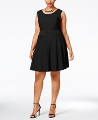 American Rag Plus Size Textured Fit And Flare Dress Only At Macy's Classic Black