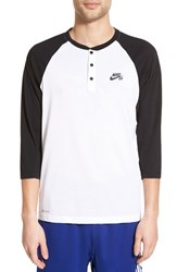 Men's Nike 'Sb Dri Fit' Three Quarter Raglan Henley