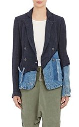 Greg Lauren Double Breasted Jacket Blue