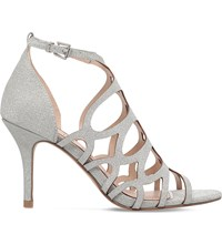 Miss Kg Glide Glitter Heeled Sandals Silver