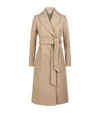 Reiss Cody Long Wrap Coat Female Camel