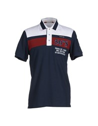 Cape Horn Topwear Polo Shirts Men Dark Blue