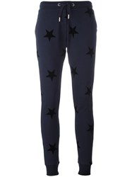 Zoe Karssen Star Print Sweatpants Blue