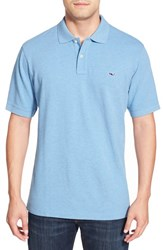 Men's Vineyard Vines 'Classic' Pique Knit Polo Ocean Breeze