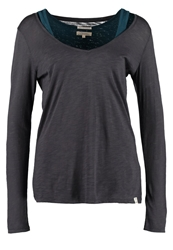 Wrangler Essential 2In1 Long Sleeved Top Ebony Anthracite