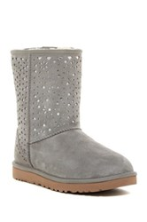 Classic Short Perforated Flora Uggpure Tm Lined Boot Gray