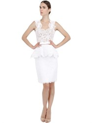 Martha Medeiros Cotton Lace And Tulle Dress