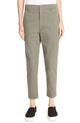 Vince Women's 'Carrot' Chino Trousers Olive