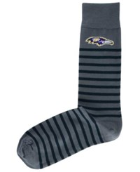 For Bare Feet Baltmore Ravens Thin Stripes Socks Charcoal Black