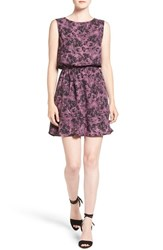 Cupcakes And Cashmere Women's 'Tabby' Floral Print Fit Flare Dress