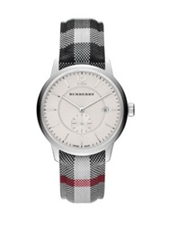 Burberry Round Stainless Steel Watch Silver Multi