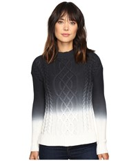 Calvin Klein Jeans 3Gg Ombre Cable Sweater Night Navy Women's Sweater