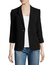 Elizabeth And James Fitted Crepe Blazer Black