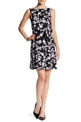 Anne Klein Flower Print Dress Multi