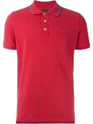 Jacob Cohen Logo Polo Shirt Red
