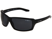 Arnette Chop Shop Gloss Black Grey Polarized Sport Sunglasses