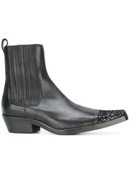 Haider Ackermann Embellished Toe Cap Boots Black