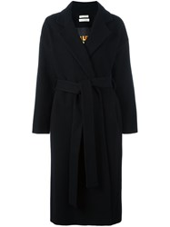 Each X Other Belted Mid Coat Black