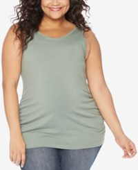 Motherhood Maternity Plus Size Tank Olive