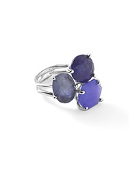 Ippolita 925 Rock Candy 3 Stone Cluster Ring Odyssey Silver