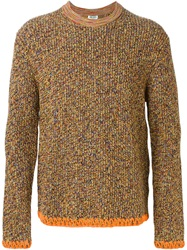 Kenzo Crew Neck Sweater Yellow And Orange
