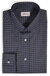 Brioni Cotton Plaid Shirt