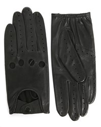 Agnelle Black Lambskin Driving Gloves