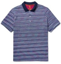 Missoni Space Dyed Cotton Piqua Polo Shirt Violet